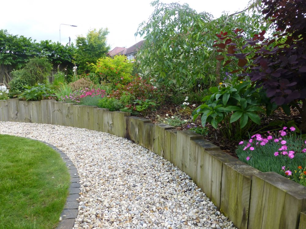 Railway sleeper landscaping in Nottingham