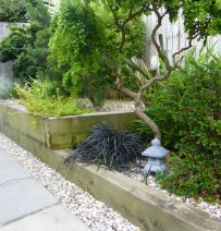 Open gardens using new railway sleepers in Nottingham 2016
