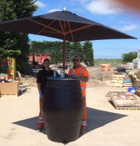 Plant Hire company use Oak Barrel for trade show