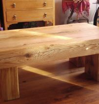 Phil Hague's amazing oak coffee table