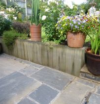 Open garden bonanza of railway sleepers by Karen