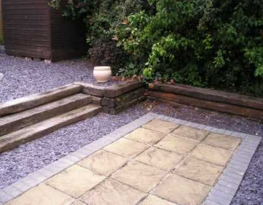 Paul Fryer 's railway sleeper landscaping