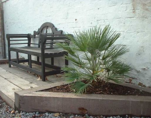 Kilgraney - raised beds from railway sleepers