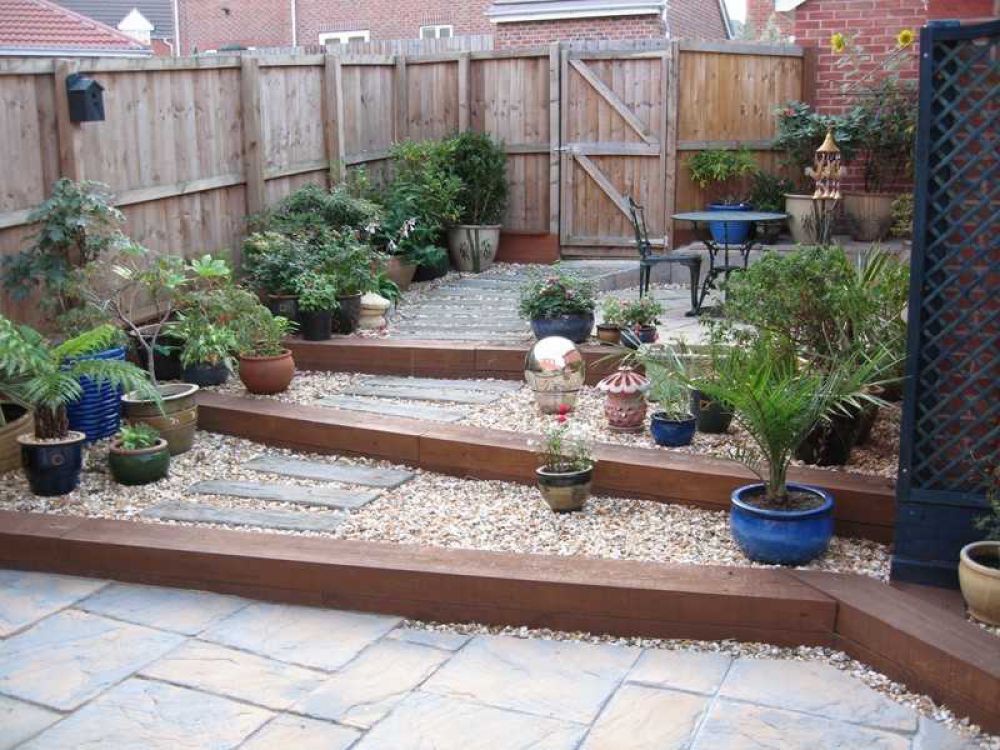 railway sleepers - Garden Design Using Railway Sleepers