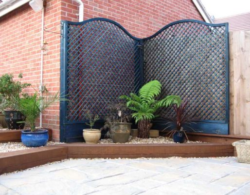 Pamela & David's garden project with railway sleepers