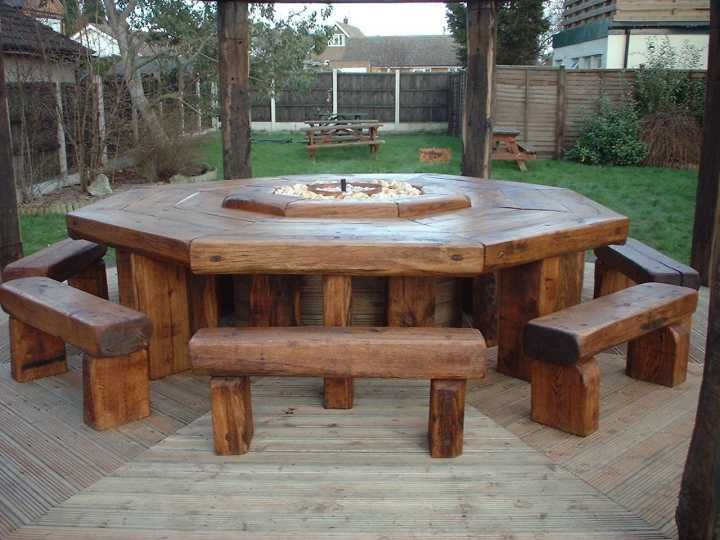 Garden Furniture Made From Sleepers awesome railway sleeper garden furniture pictures - home