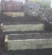 Paul Godrey's new railway sleeper raised beds
