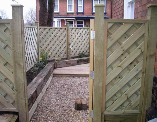 Paul Keenan's railway sleeper landscaping
