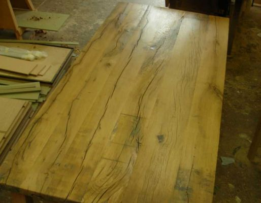 Andy's oak table from railway sleepers