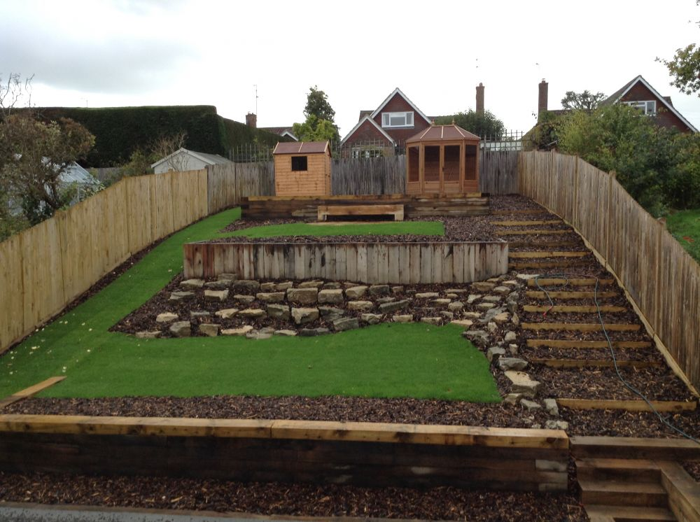 how to build garden steps with railway sleepers