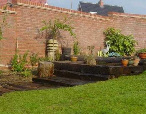 Rob's railway sleeper landscaping
