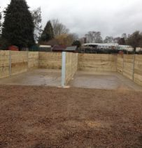Recycling bays from new railway sleepers & RSJs