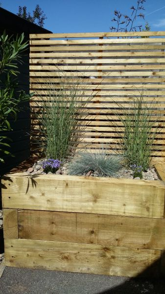 how to build a raised bed with railway sleepers