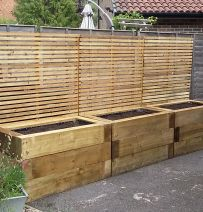 Trish Larcombe's railway sleeper raised beds & deck