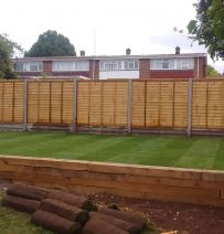 Transforming a nightmare with hardwork and railway sleepers