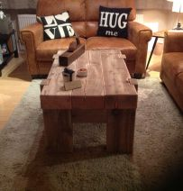 Graham's table made from new pine railway sleepers
