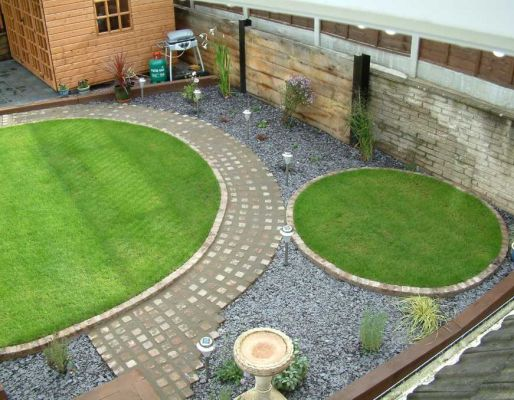 Richard Godwin's garden project with railway sleepers