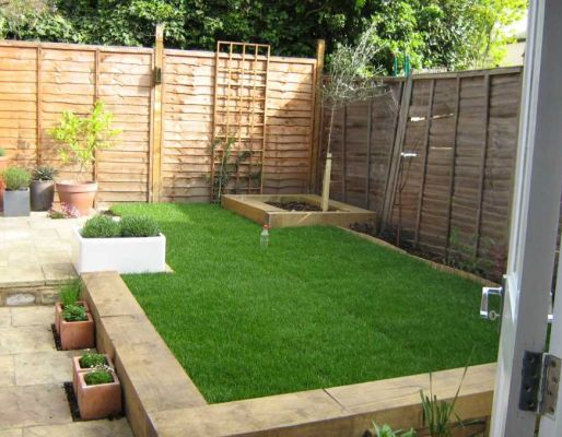 Richard Parr's garden transformation with railway sleepers
