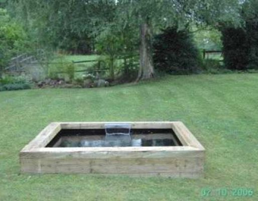 Rob Higgins's how to make a pond with railway sleepers