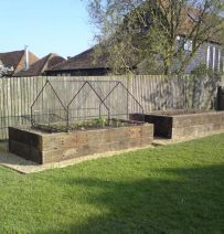 Rob's his & hers raised veg beds