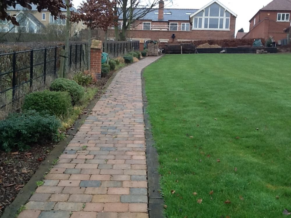 Paths Amp Edging With Used Railway Sleepers