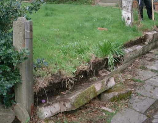Roy's railway sleeper wall