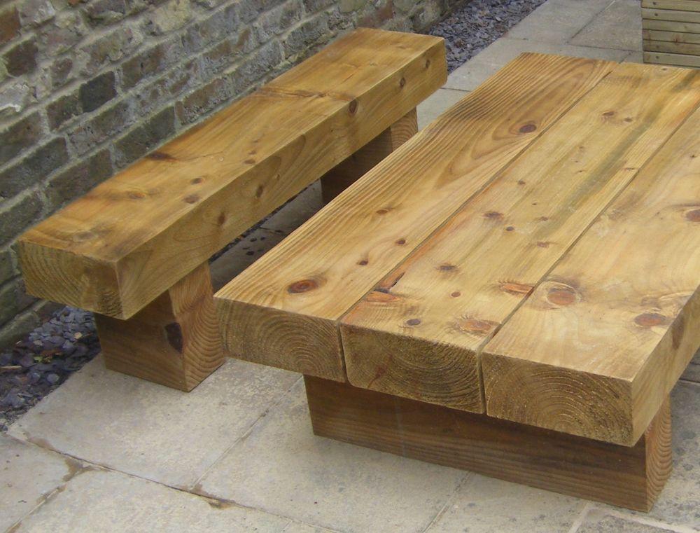 Roy S Garden Furniture From New Railway Sleepers