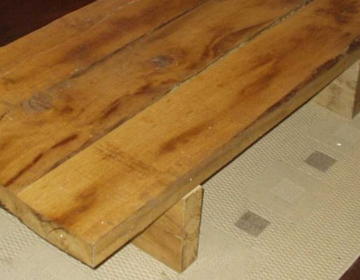 Russell Ward's railway sleeper tables