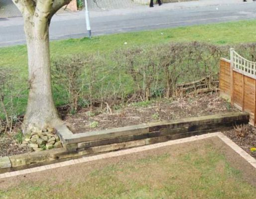 Simon Broddle's railway sleeper wall