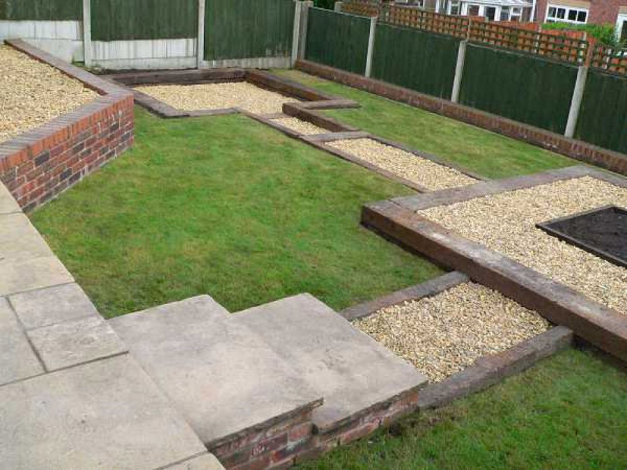 simon cunliffes garden design with railway sleepers - Garden Design Using Sleepers