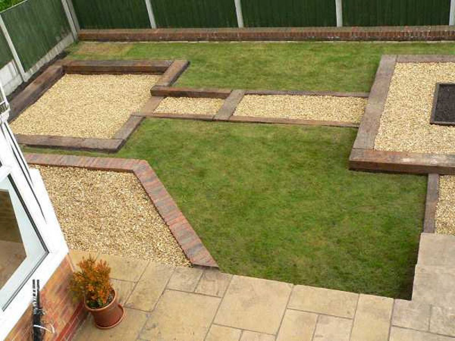 Garden Design Using Sleepers xlandscape area: garden designs using railway sleepers