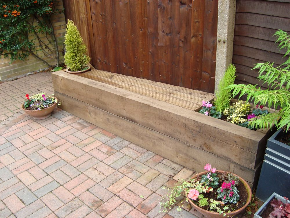 Bench Seat From New Oak Railway Sleepers