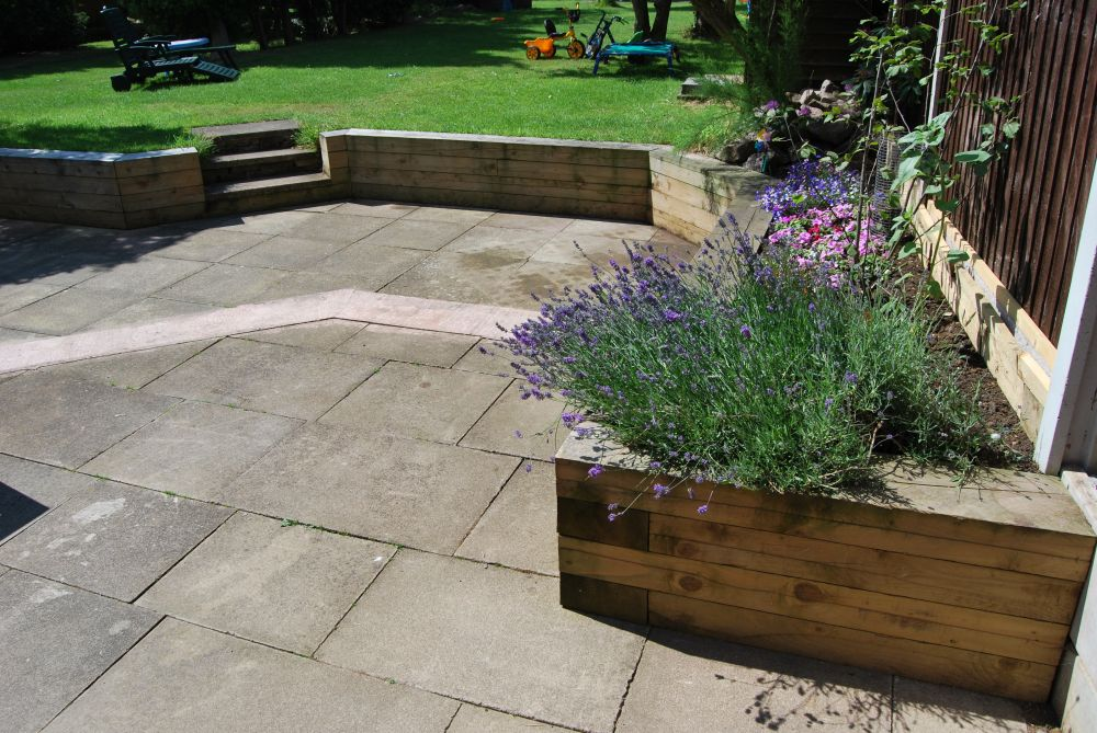 Raised Beds Amp Retaining Walls With New Pine Railway Sleepers