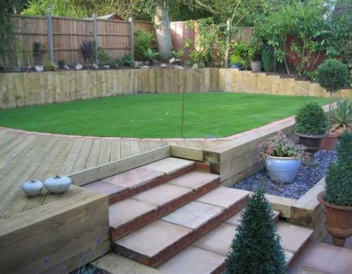 Stuart Watson's epic transformation with railway sleepers