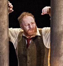 West Yorkshire Playhouse's on stage telegraph poles