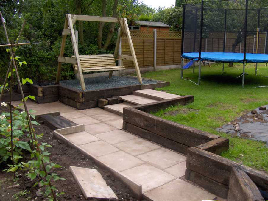 how to make garden steps using sleepers