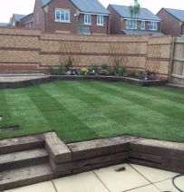 Tom Russell's gruelling month of railway sleeper landscaping!
