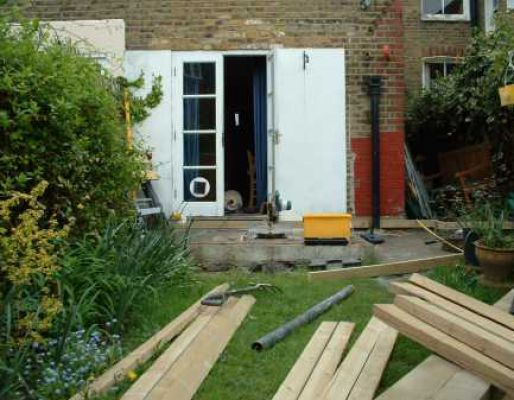 Tony's initial stages of decking