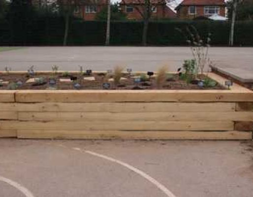 Town & Country's sensory garden with railway sleepers