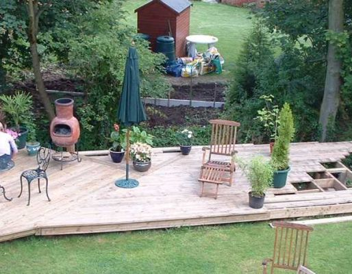 Vic Keyworth's decking sanctuary