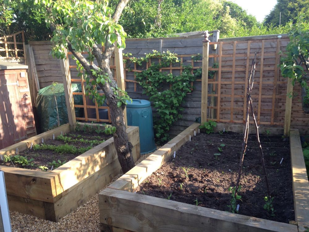 Ross S Raised Vegetable Beds With New Pine Railway Sleepers