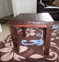 Mauritz's first table from reclaimed Jarrah railway sleepers