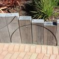RETAINING WALLS with railway sleepers