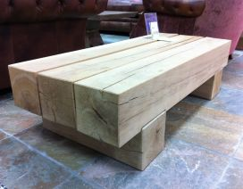 TABLES made from railway sleepers