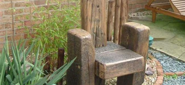 Benches Chairs From Railway Sleepers
