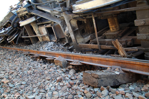 Train Derailed By Theft Of Railway Sleepers